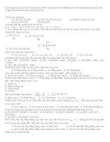 522 bài tập Hóa học Ôn thi Tốt nghiệp và Đại học