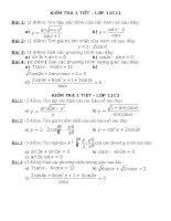 Bài giảng KT 1 tiết - Chương 1 - Đại số 11 (2010-2011)