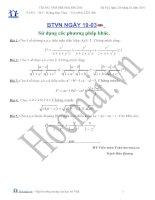 Tài liệu Các bài toán sử dụng các phương pháp khác (Bài tập và hướng dẫn giải) pdf