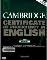 Tài liệu Cambridge Certificate Of Profeciency English pdf
