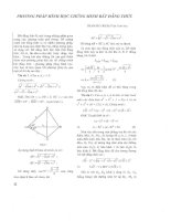 Tài liệu Phương pháp hình học chứng minh bất đẳng thức pptx