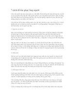 Tài liệu 7 cách để thu phục lòng người docx