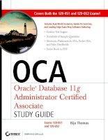Tài liệu OCA: Oracle Database 11g Administrator Certified Associate Study Guide- P1 doc