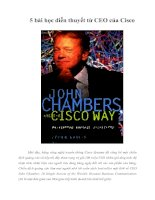 Tài liệu 5 bài học diễn thuyết từ CEO của Cisco pdf