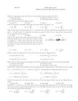 Tài liệu Đề số 2 - Đề thi môn: Vật lí (Dành cho thí sinh Ban Khoa học Tự nhiên) ppt