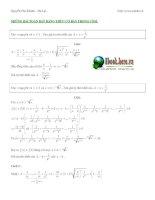 Tài liệu Những bài toán bất đẳng thức cơ bản trong cosi doc