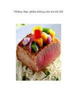 Tài liệu Những thực phẩm không nên ăn khi đói pdf