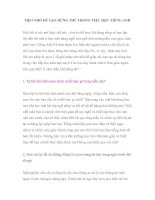 Tài liệu MẸO NHỎ ĐỂ TẠO HỨNG THÚ TRONG VIỆC HỌC TIẾNG ANH pdf