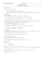 Tài liệu Bài tập toán ôn thi đại học khối A 2007 có lời giải hướng dẫn ppt