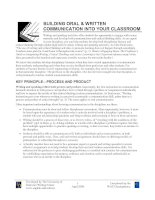 Tài liệu BUILDING ORAL AND WRITTEN COMMUNICATION INTO YOUR CLASSROOM doc