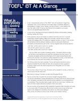 Tài liệu TOEFL ibt at a Glance ppt