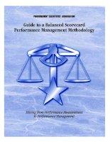 Tài liệu Guide to a Balanced Scorecard Performance Management Methodology doc