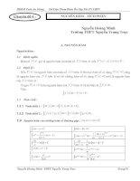 Tài liệu Chuyên đề 4: Tích phân và ứng dụng (Ôn thi TN THPT năm 2011)