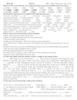 Gián án HSG English 8 (Test 1)