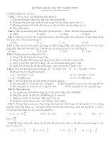 Bài soạn đề thi thử TN số 4
