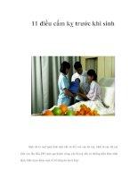 Tài liệu 11 điều cấm kỵ trước khi sinh doc