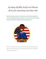 Tài liệu Áp dụng tài diễn thuyết của Obama để truyền cảm hứng cho nhân viên docx