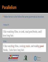 Tài liệu 06) Parallelism pdf