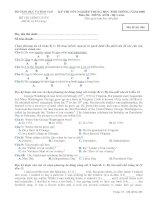 Tài liệu BỘ GIÁO DỤC VÀ ĐÀO TẠO ĐỀ THI CHÍNH THỨC -ĐỀ THI CHÍNH THỨC (Đề thi có 03 trang) KỲ THI TỐT NGHIỆP TRUNG HỌC PHỔ THÔNG NĂM 2009 Môn thi: TIẾNG ANH Mã đề thi 486 doc