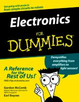 Tài liệu John Wiley And Sons Electronics For Dummies Ebook P1 pdf