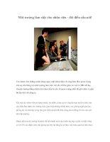 Tài liệu Môi trường làm việc cho nhân viên - đôi điều cần nói! pdf
