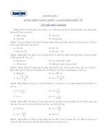 Tài liệu Chuyên đề 3: Dòng điện xoay chiều và dao động điện từ (Đề trắc nghiệm) doc