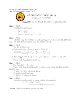 Tài liệu Đề thi Olympic môn toán lớp 11 - Thành phố Huế ppt
