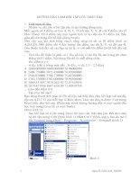 Tài liệu HƯỚNG DẪN LÀM BÀI TẬP LỚN TRẮC ĐỊA pdf