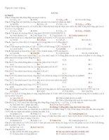 Gián án phân loại bài tập ancol