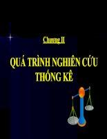 Tài liệu Chương II QUÁ TRÌNH NGHIÊN CỨU THỐNG KÊ doc