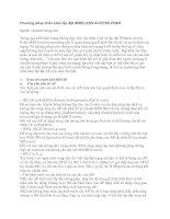 Tài liệu Phương pháp triển khai lắp đặt WIRELESS ACCESS POINT ppt