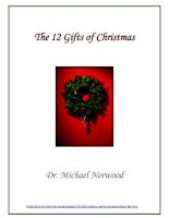 Tài liệu The 12 Gifts of Christmas - By Dr. Michael Norwood pdf