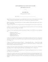 Câu hỏi sát hạch nhân viên mới tuyển 2005 Chi Nhánh Vũng Tàu