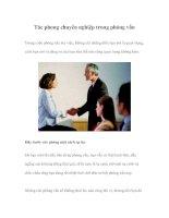 Tài liệu Tác phong chuyên nghiệp trong phỏng vấn doc