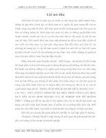 PHÂN TÍCH mối QUAN hệ GIỮA DOANH THU – CHI PHÍ – sản LƯỢNG NHẰM đề RA BIỆN PHÁP NÂNG CAO HIỆU QUẢ sản XUẤT KINH DOANH của xí NGHIỆP xếp dỡ HOÀNG DIỆU