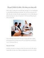 Tài liệu Bí quyết khích lệ nhân viên nâng cao năng suất pptx