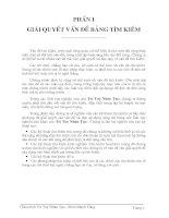 Tài liệu Giáo trình Trí Tuệ Nhân Tạo -chương 1- GIẢI QUYẾT VẤN ĐỀ BẰNG TÌM KIẾM ppt