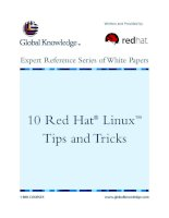 Tài liệu 10 Red Hat® Linux™ Tips and Tricks pptx