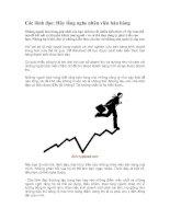Tài liệu Các lãnh đạo: Hãy lắng nghe nhân viên bán hàng pdf