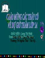 Bài giảng TLV: Cấu tạo bài văn tả cảnh