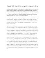 Tài liệu Người lãnh đạo và khả năng cân bằng cuộc sống pdf