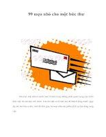Tài liệu 99 mẹo nhỏ cho một bức thư doc