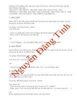 Bài soạn Cac Ham trong Excel