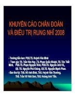 Tài liệu KHUYẾN CÁO CHẨN ĐOÁN VÀ ĐIỀU TRỊ RUNG NHĨ 2008 doc