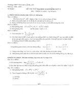 Tài liệu Đề thi thử đại học môn Toán khối A, B THPT TX Cao Lãnh (2008-2009) pdf