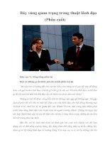 Tài liệu Bảy vùng quan trọng trong thuật lãnh đạo (Phần cuối) : Sống bằng docx