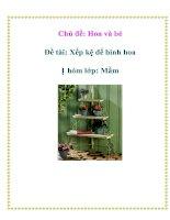 Tài liệu Chủ đề: Hoa và bé - Đề tài: Xếp kệ để bình hoa - Nhóm lớp: Mầm ppt