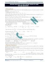 Phương pháp giải bài tập đặc trưng về amin
