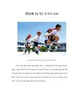 Tài liệu Bệnh tự kỷ ở trẻ em pdf
