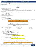 chuyên đề 3 : Amin – Amino axit – Protein